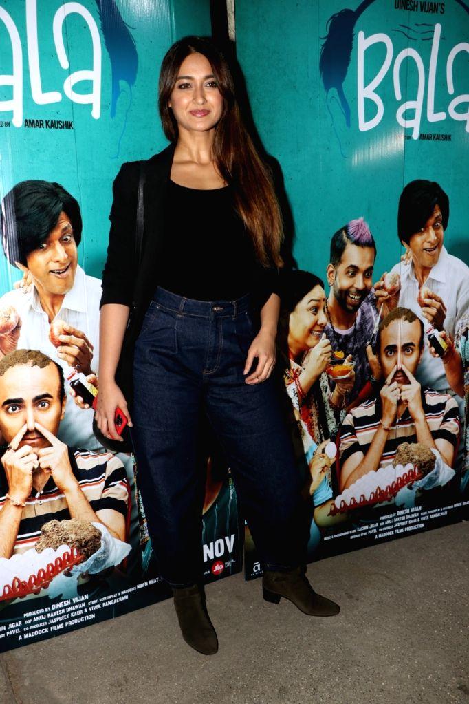 "Actress Illeana D'Cruz at the special screening of the film ""Bala"" in Mumbai on Nov 6, 2019. - Illeana D"