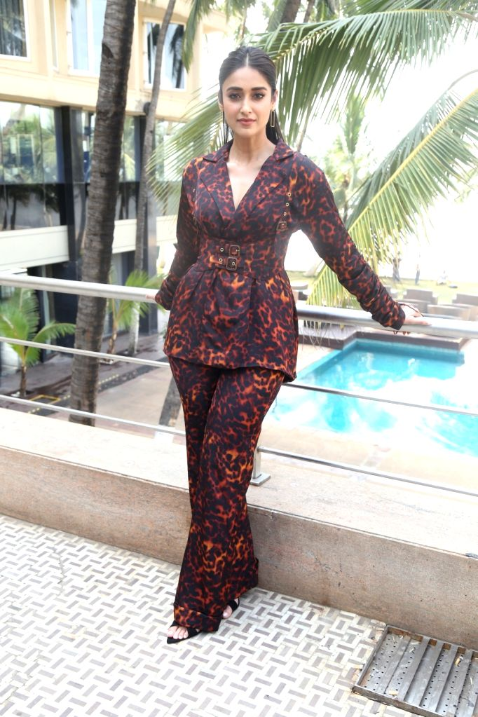 """Actress Illeana D'Cruz during the promotions of her upcoming film """"Pagalpanti"""" in Mumbai on Nov 14, 2019. - Illeana D"""