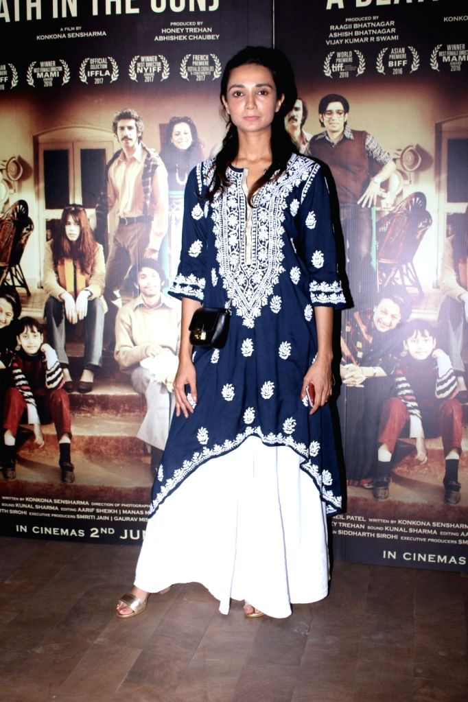 Actress Ira Dubey during the screening of film A Death in The Gunj in Mumbai on May 29, 2017. - Ira Dubey