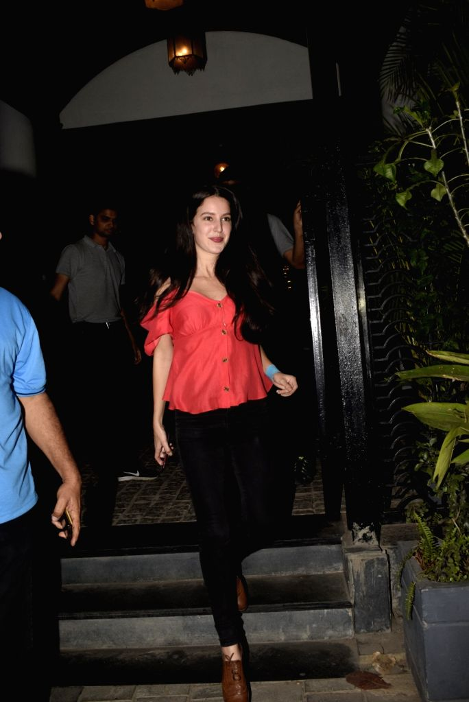 Actress Isabel Kaif seen outside a club in Mumbai's Juhu, on March 3, 2019. - Isabel Kaif