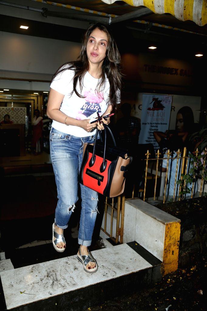 Actress Isha Koppikar seen at Bandra in Mumbai on July 25, 2019. - Isha Koppikar