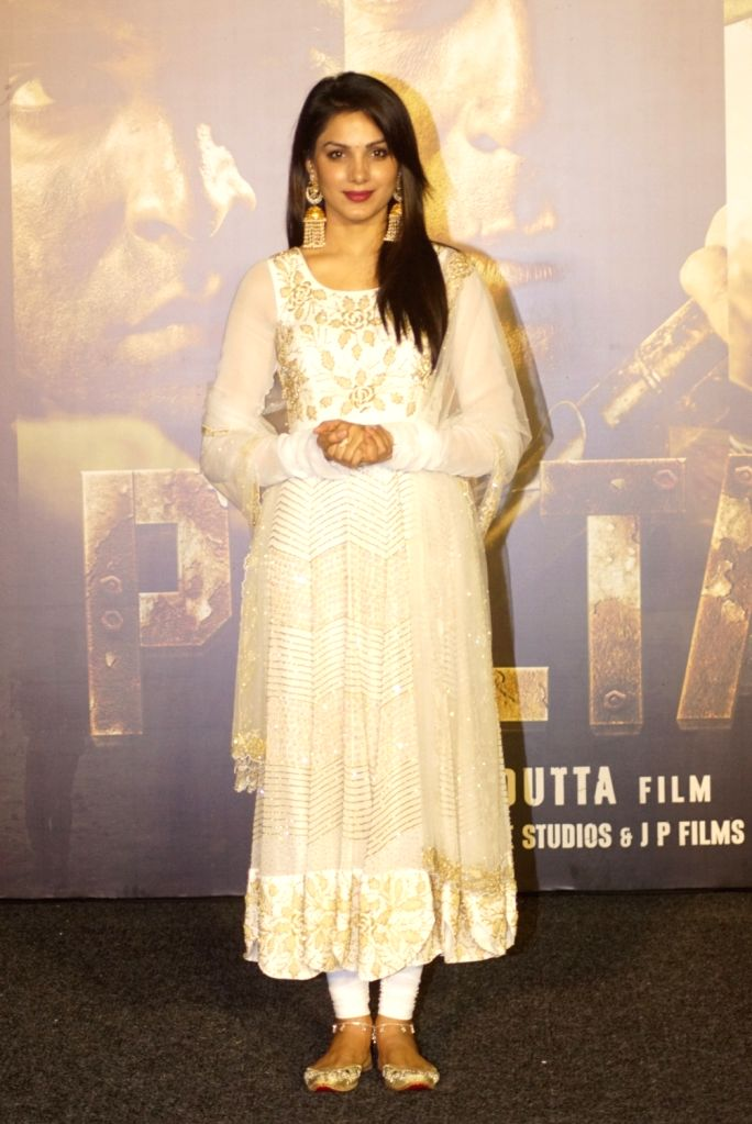 "Actress Ishitha Chauhan at the trailer launch of upcoming film ""Paltan"", in Mumbai on Aug 2, 2018. - Ishitha Chauhan"