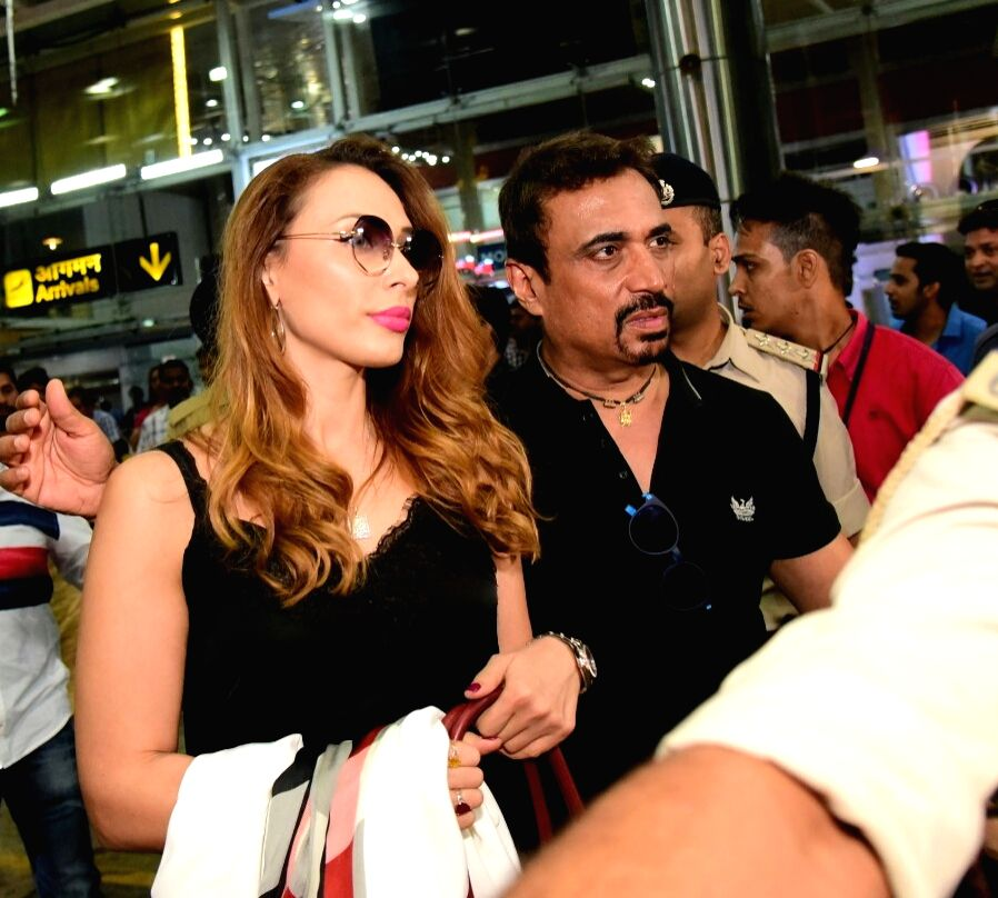 Actress Iulia Vantur arrives at Jaipur International Airport, on Sept 18, 2018. - Iulia Vantur