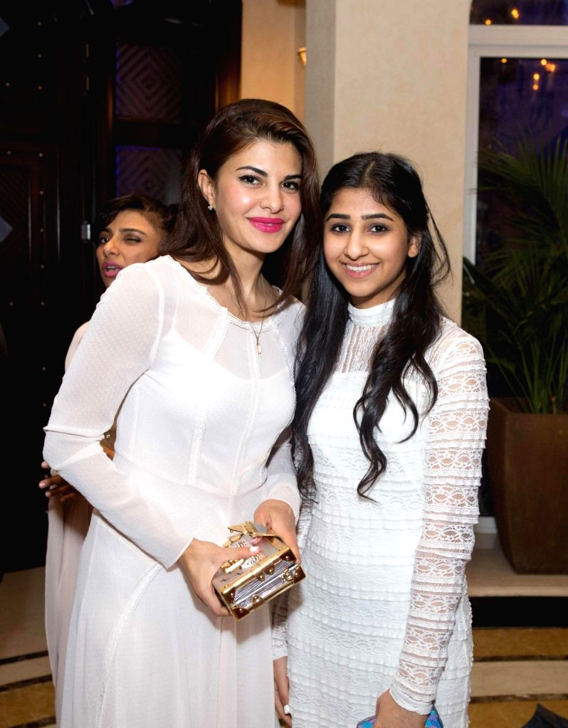 Actress Jacqueline Fernandez at the Anil Kapoor`s 59th birthday celebration party hosted by Chairman Channel 2 Group Ajay Sethi in Dubai, on Jan 5 ,2016. - Jacqueline Fernandez