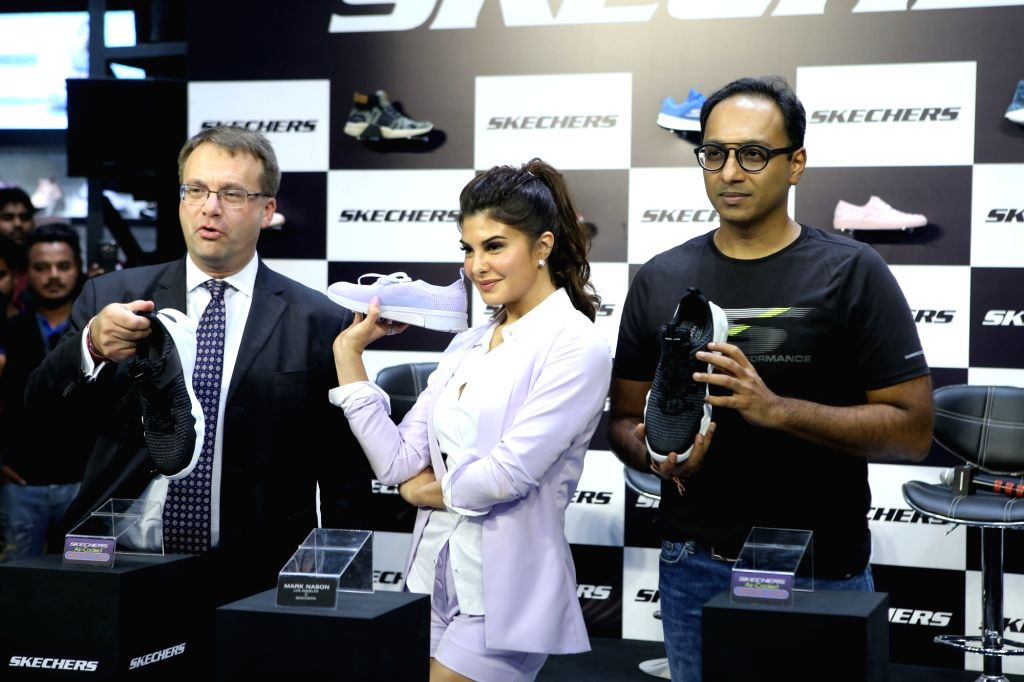 Actress Jacqueline Fernandez at the store launch of Skechers in Mumbai on Oct 25, 2018. - Jacqueline Fernandez