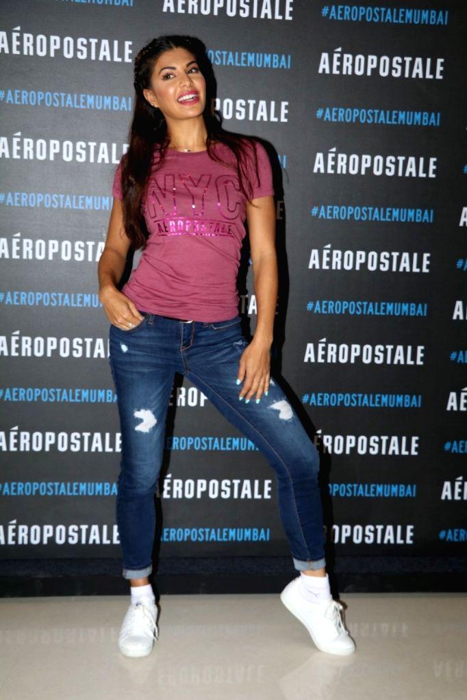 Actress Jacqueline Fernandez duirng the launch of store Aeropostale, in Mumbai on June 25, 2016. - Jacqueline Fernandez
