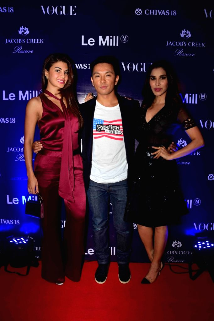 Actress Jacqueline Fernandez during a party to celebrate the launch fashion designer Prabal Gurung`s SS17 collection hosted by Le Mill concept store in Mumbai, on Oct 26, 2016. - Jacqueline Fernandez