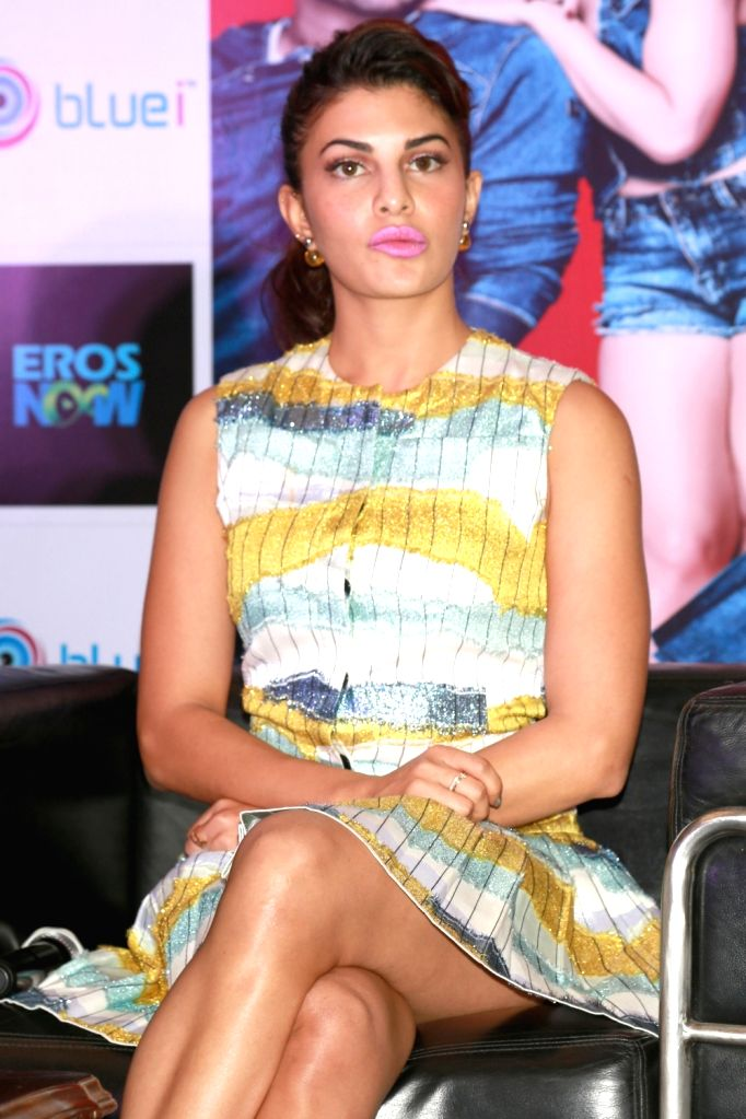 Actress Jacqueline Fernandez during a promotional event of her upcoming film `Housefull 3` in New Delhi on May 25, 2016. - Jacqueline Fernandez