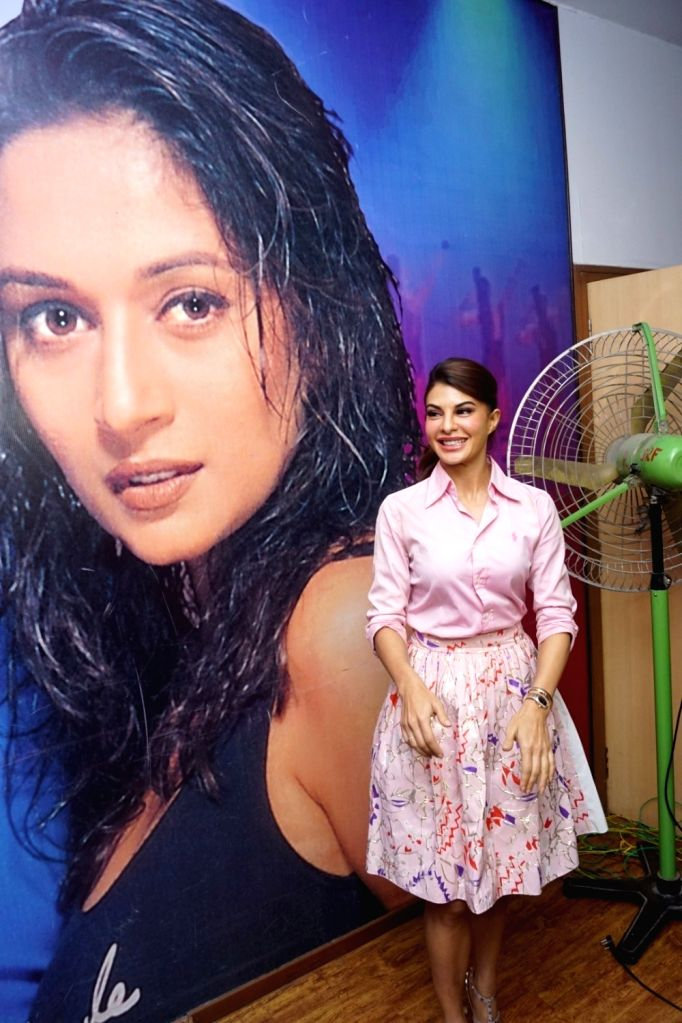 """Actress Jacqueline Fernandez during media interaction of her upcoming film """"Baaghi 2"""" and wrap of her song """"Ek Do Teen"""" in Mumbai on Feb 10, 2018. - Jacqueline Fernandez"""