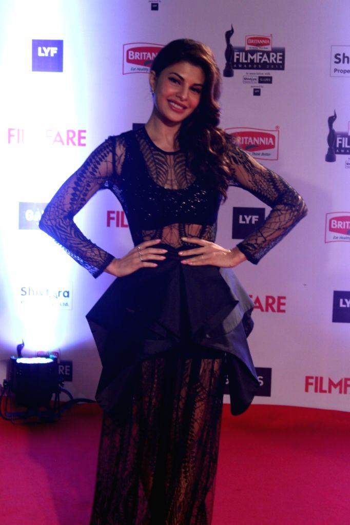 Actress Jacqueline Fernandez during the 61st Britannia Filmfare Awards in Mumbai on January 15, 2016. - Jacqueline Fernandez