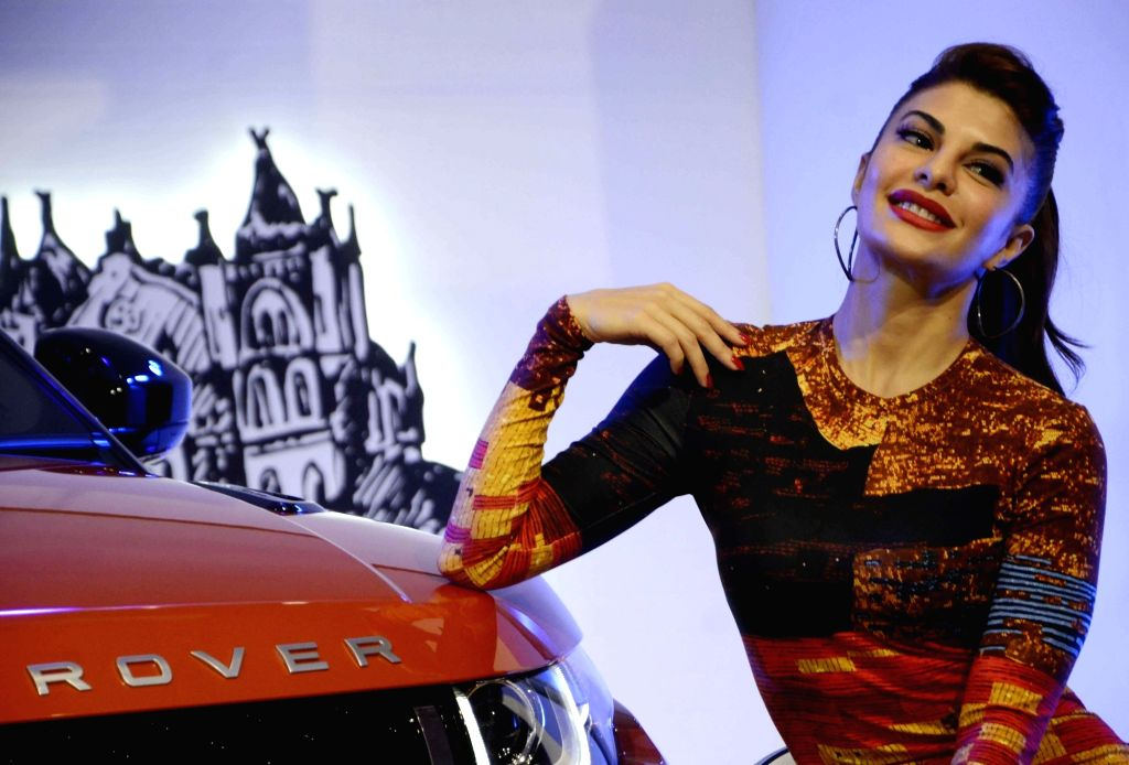 Actress Jacqueline Fernandez during the launch of Land Rover`s SUV `Range Rover Evoque` in Mumbai on Nov 19, 2015. - Jacqueline Fernandez
