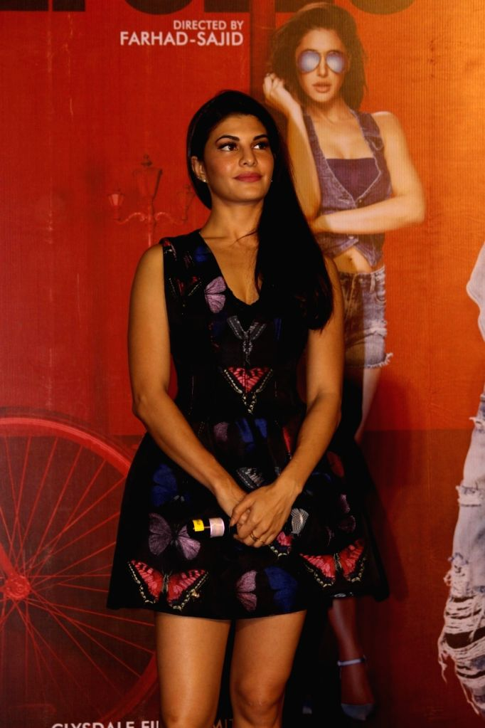 Actress Jacqueline Fernandez during the press conference of film Housefull 3, in Mumbai, on June 2, 2016. - Jacqueline Fernandez