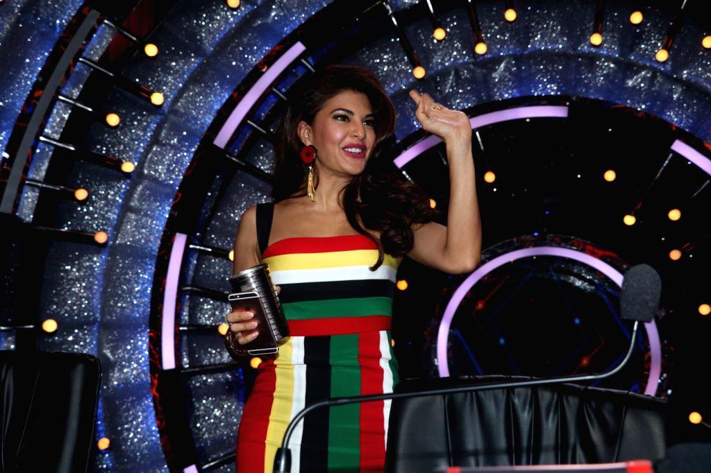 Actress Jacqueline Fernandez during the promotion of film A Flying Jatt on the sets of reality dance show Jhalak Dikhhla Jaa season 9 in Mumbai on Aug 2, 2016. - Jacqueline Fernandez