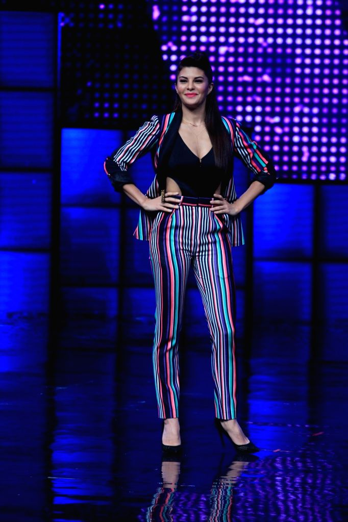 Actress Jacqueline Fernandez on the sets of Star Plus dance reality show Dance + (Dance Plus) season 2, to promote upcoming film Dishoom in Mumbai on July 11, 2016. - Jacqueline Fernandez