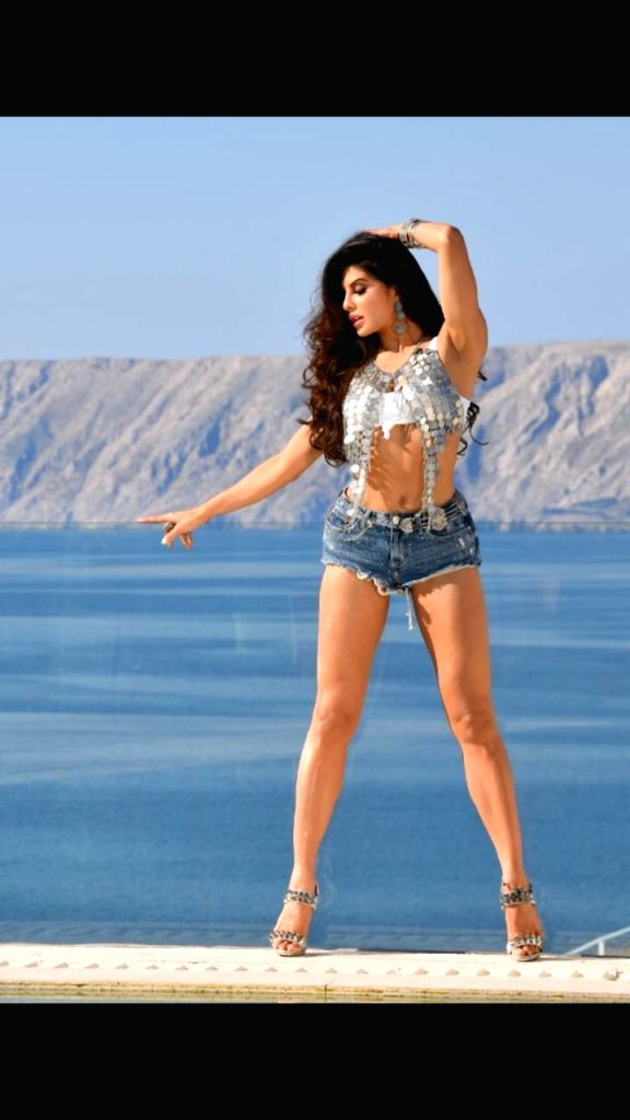 "Actress Jacqueline Fernandez's stunning outfit in the song ""Bad Boy"" by ""Saaho"" is by Leepakshi Ellawadi . - Jacqueline Fernande"
