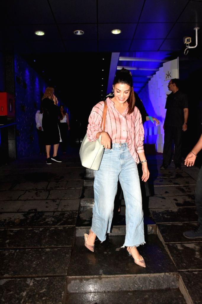 Actress Jacqueline Fernandez seen at Bandra in Mumbai on Sep 21, 2019. - Jacqueline Fernandez