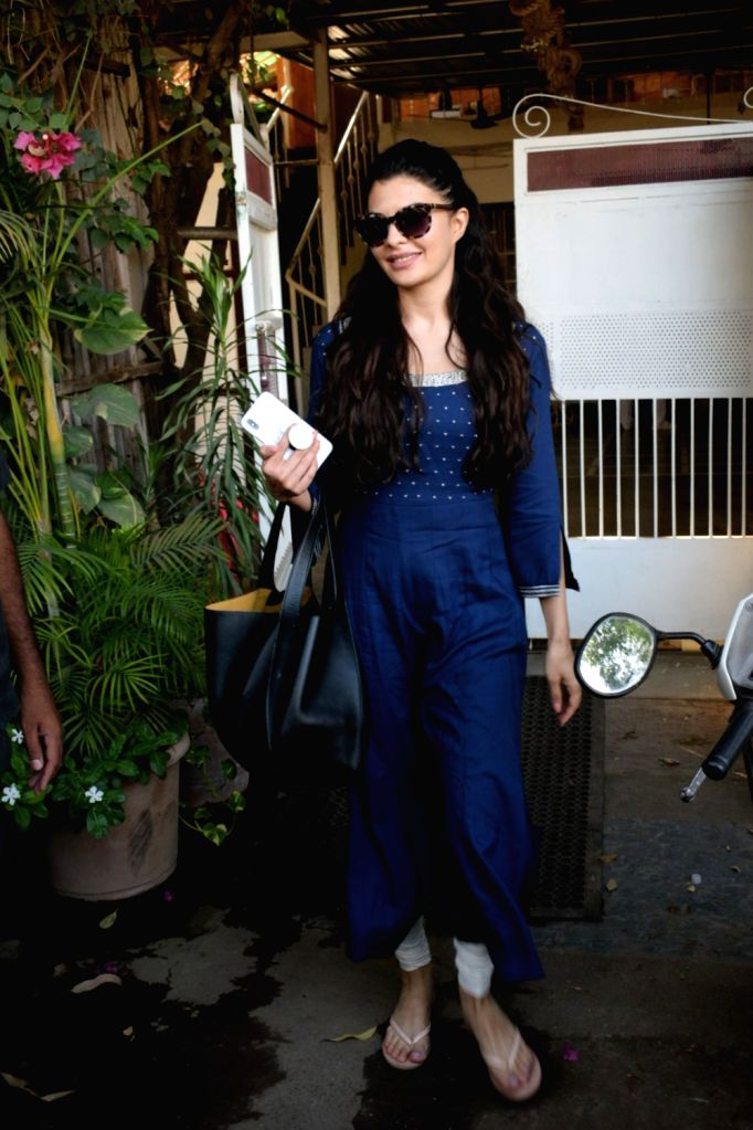 Actress Jacqueline Fernandez seen at Mumbai's Versova on May 10, 2019. - Jacqueline Fernandez