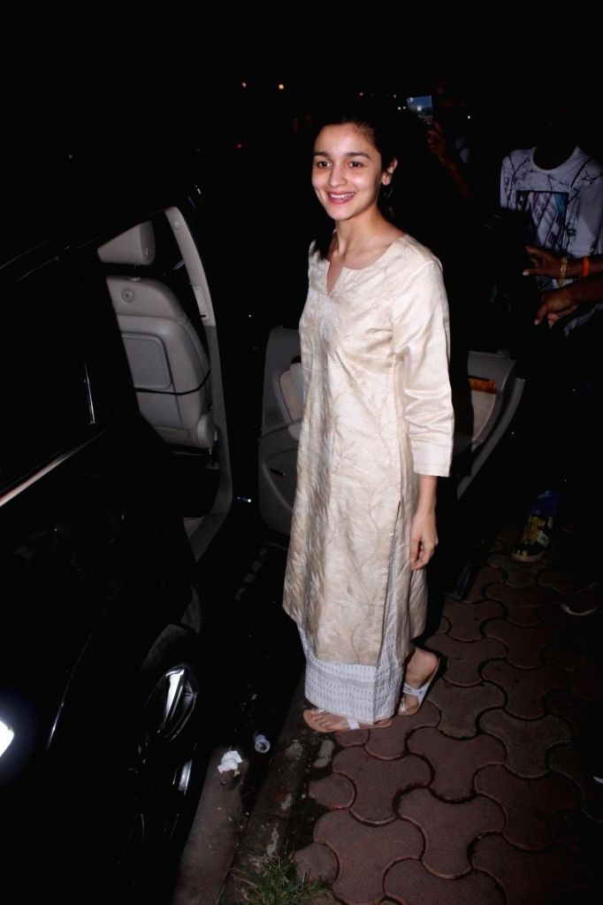 Actress JAlia Bhatt spotted at Airport in Mumbai on June 8, 2017. - J