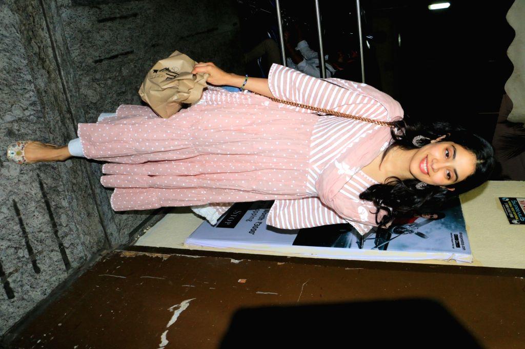 "Actress Janhvi Kapoor arrives at the screening of the film ""Avengers: Endgame"" in Mumbai, on April 26, 2019. - Janhvi Kapoor"