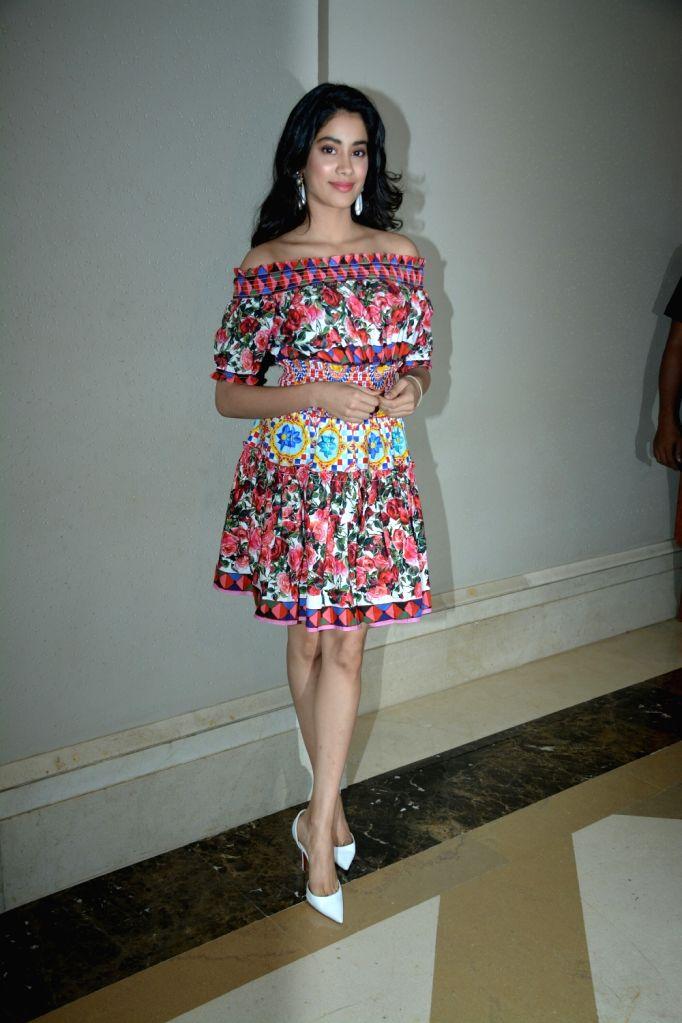 "Actress Janhvi Kapoor during the success meet of her film ""Dhadak"" in Mumbai on July 26, 2018. - Janhvi Kapoor"
