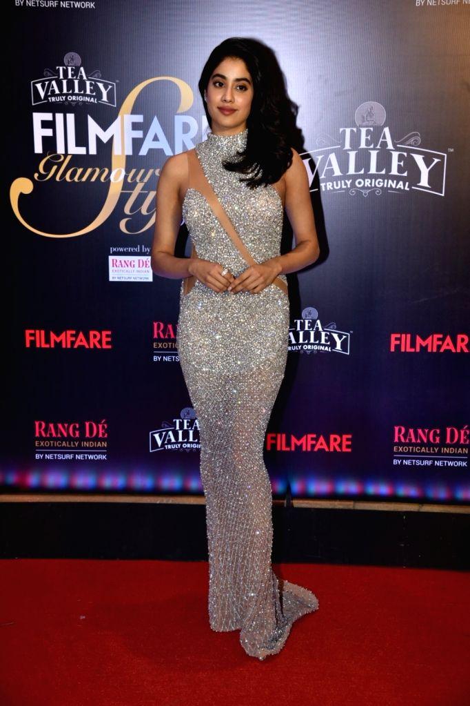Actress Janhvi Kapoor on the red carpet of Filmfare Glamour And Style Awards 2019, in Mumbai on Feb 11, 2019. - Janhvi Kapoor