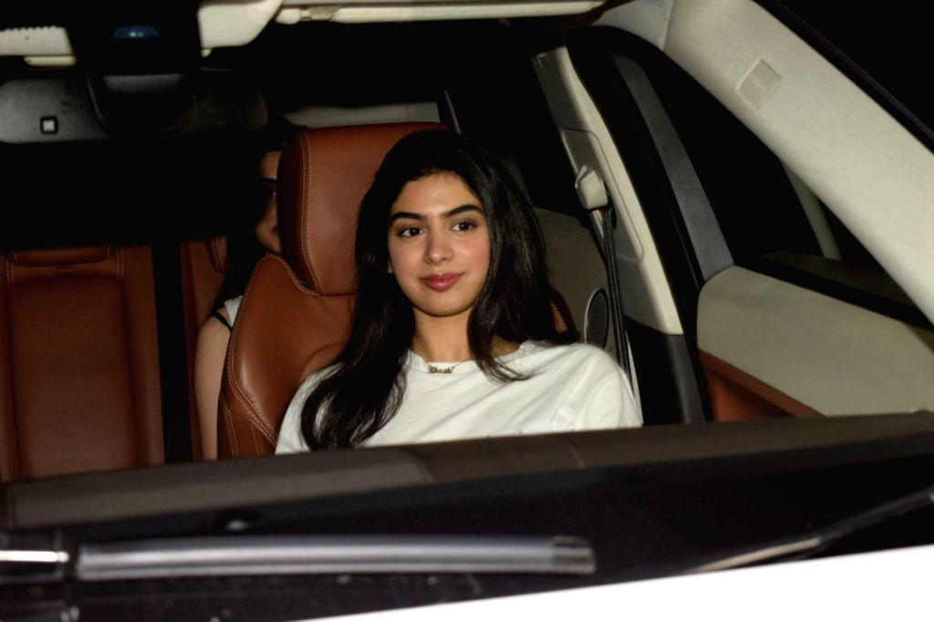 "Actress Janhvi Kapoor's sister Khushi Kapoor at the special screening of film ""Dhadak"" in Mumbai on July 19, 2018. - Janhvi Kapoor and Khushi Kapoor"