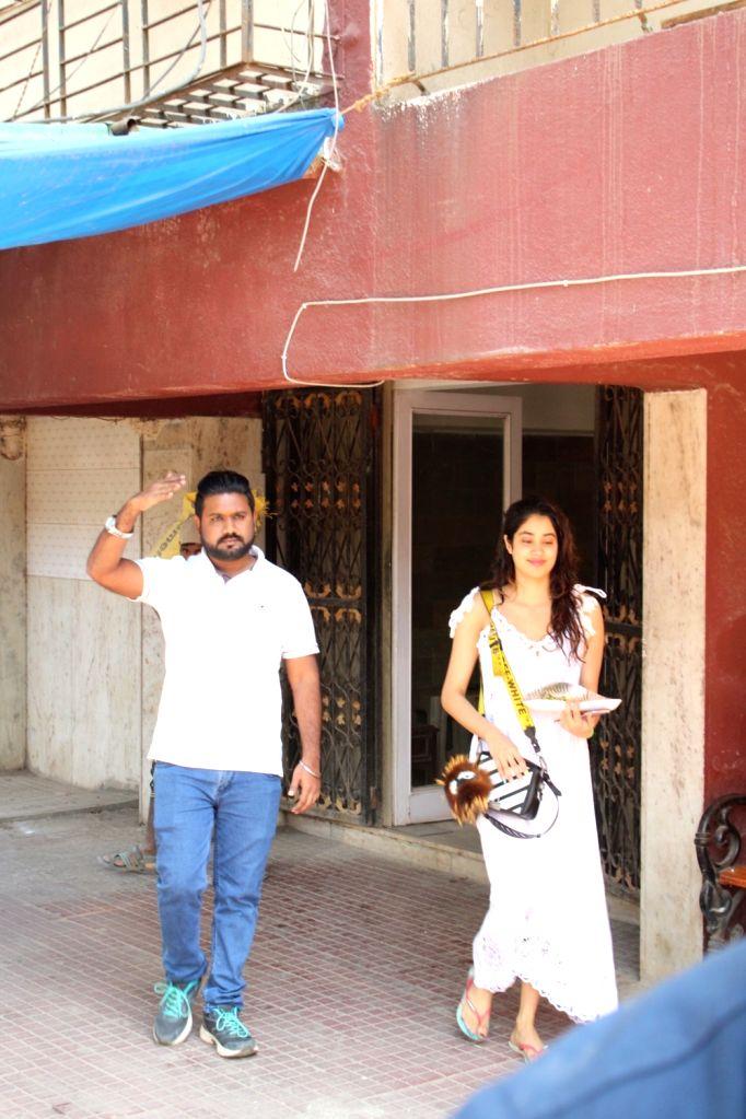 Actress Janhvi Kapoor seen at a Bandra gym, in Mumbai on Feb 7, 2020. - Janhvi Kapoor