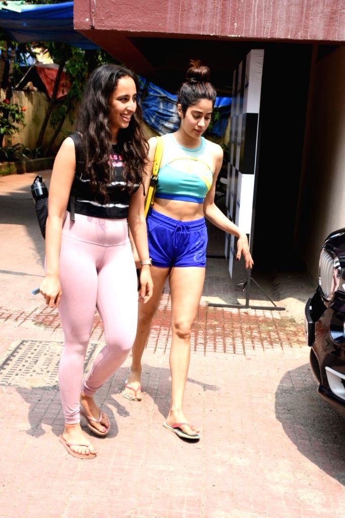 Actress Janhvi Kapoor seen at a Mumbai gym on Oct 8, 2019. - Janhvi Kapoor