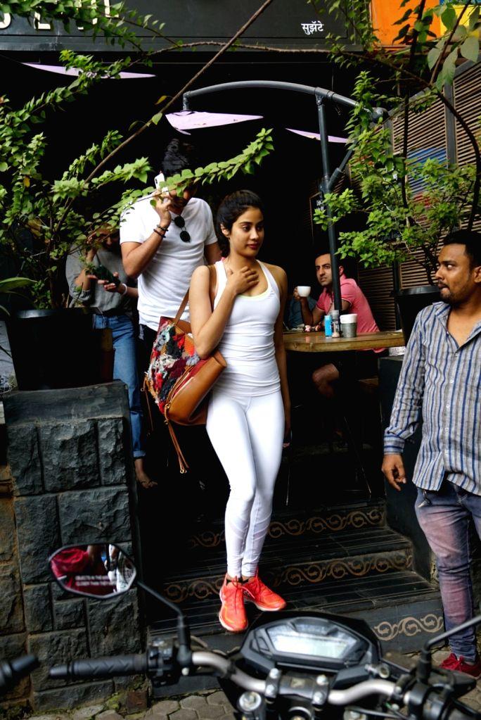 Actress Janhvi Kapoor seen at a Mumbai restaurant on Dec 29, 2017. - Janhvi Kapoor