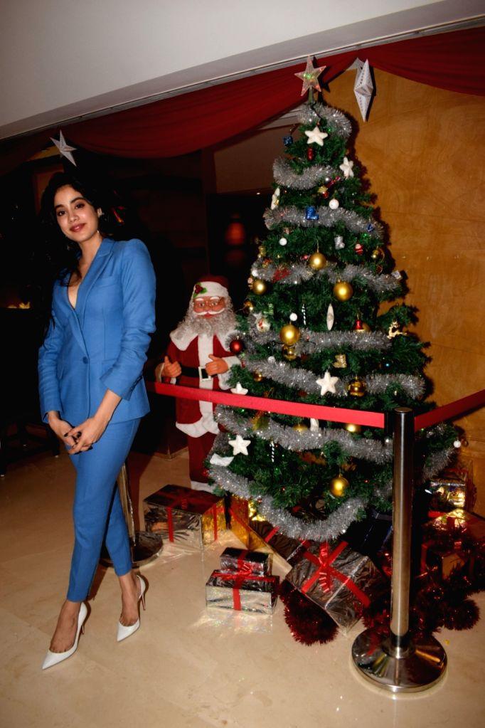 Actress Janhvi Kapoor seen at a Sun N Sand in Mumbai's Juhu on Dec 22, 2018. - Janhvi Kapoor