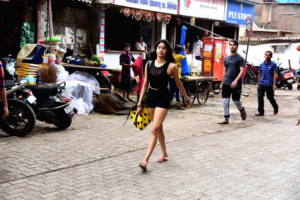 Actress Janhvi Kapoor seen at Bandra, in Mumbai on June 12, 2019. - Janhvi Kapoor