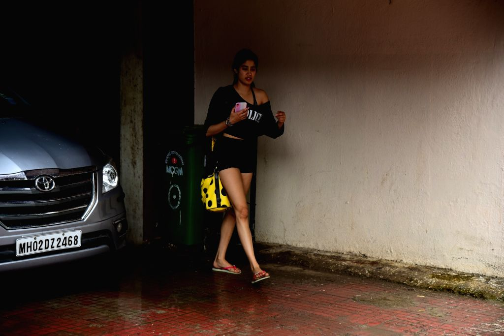 Actress Janhvi Kapoor seen at Bandra in Mumbai on July 25, 2019. - Janhvi Kapoor