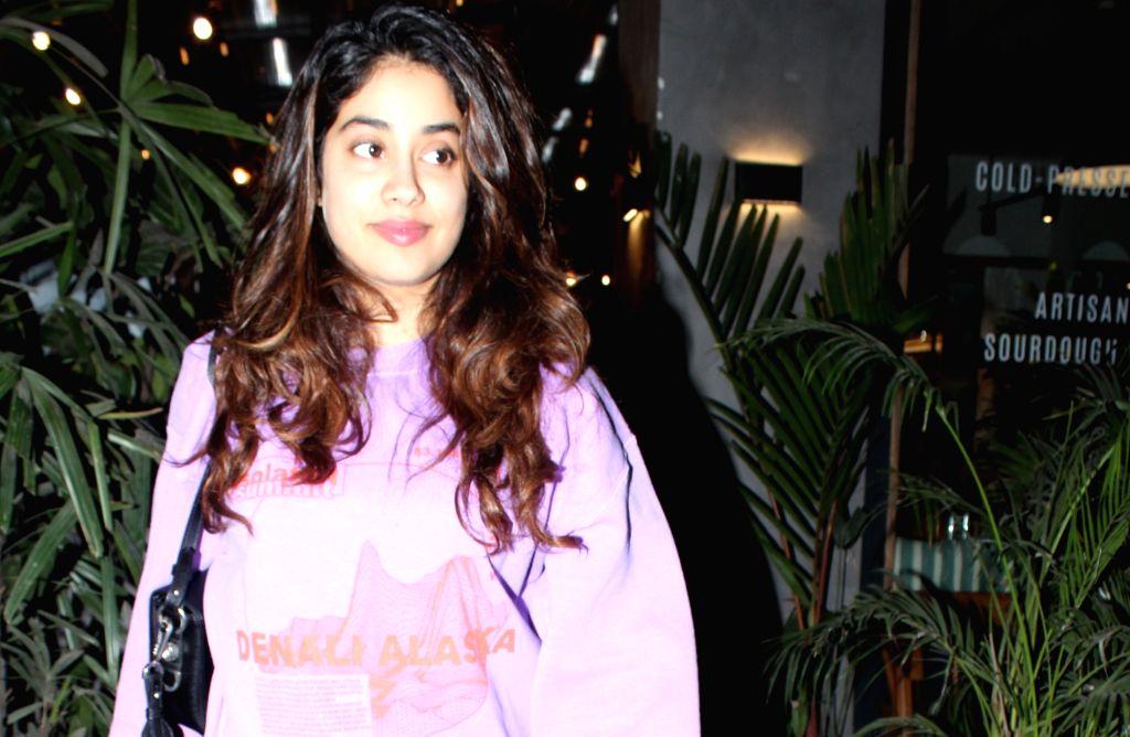 Actress Janhvi Kapoor seen at Juhu, in Mumbai on Feb 10, 2020. - Janhvi Kapoor