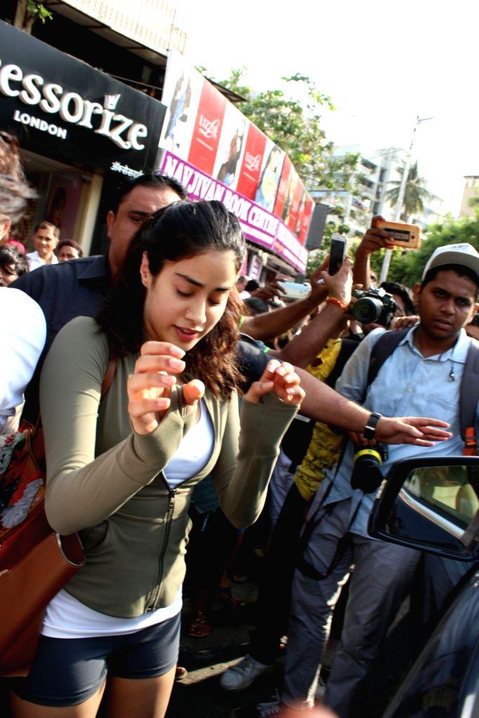 Actress Janhvi Kapoor seen at Mumbai's Bandra on May 25, 2018. - Janhvi Kapoor