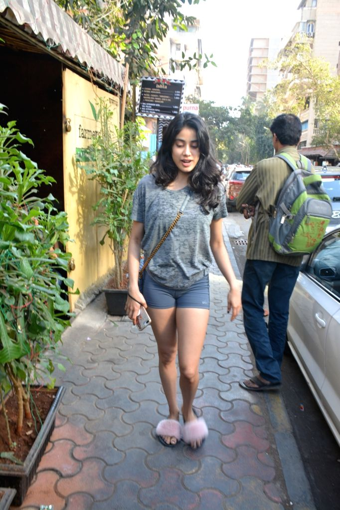 Actress Janhvi Kapoor seen at Mumbai's Bandra, on  Feb 9, 2019. - Janhvi Kapoor