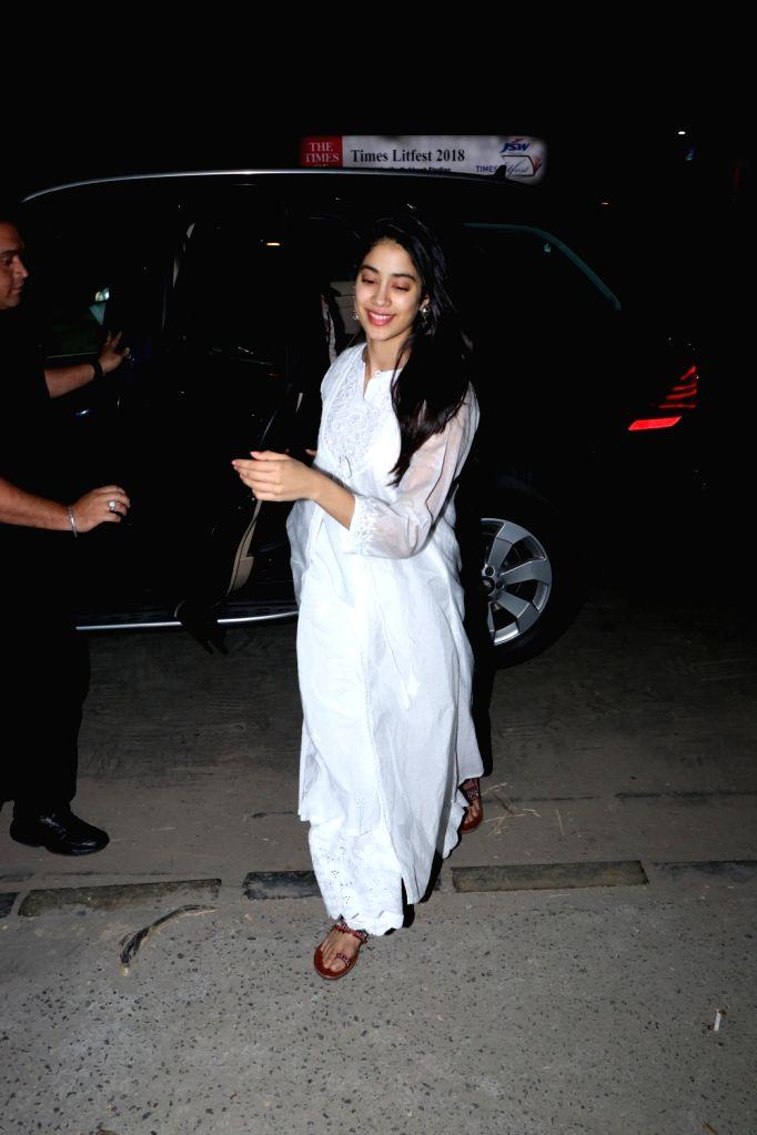 Actress Janhvi Kapoor seen at Soho House in Juhu in Mumbai, on Dec 10, 2018. - Janhvi Kapoor