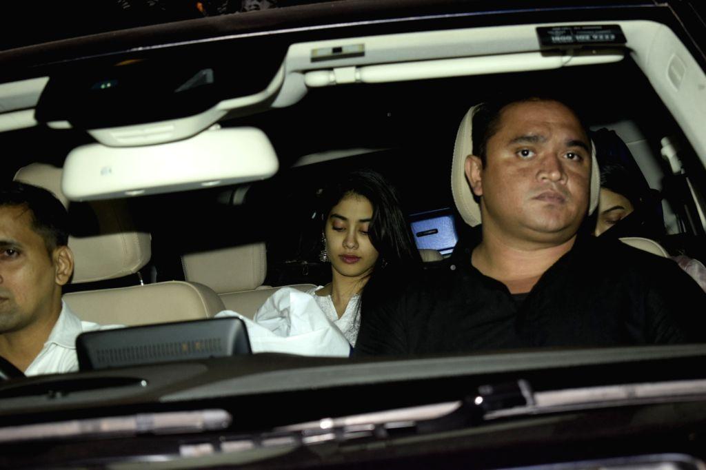 Actress Janhvi Kapoor seen at Soho House in Juhu in Mumbai, on Dec 11, 2018. - Janhvi Kapoor
