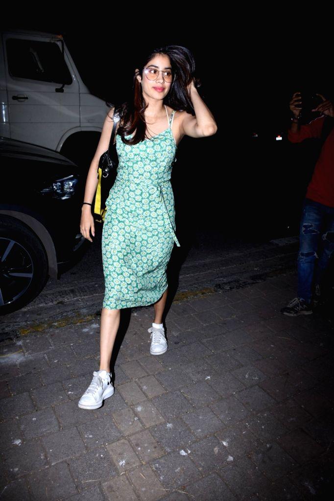 Actress Janhvi Kapoor seen at Zoya Akhtar's house in Bandra, Mumbai on Oct 12, 2019. - Janhvi Kapoor