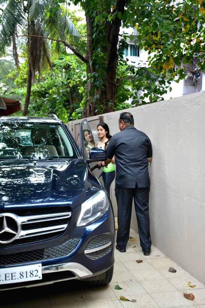 Actress Janhvi Kapoor seen in Mumbai's Bandra on June 30, 2018. - Janhvi Kapoor