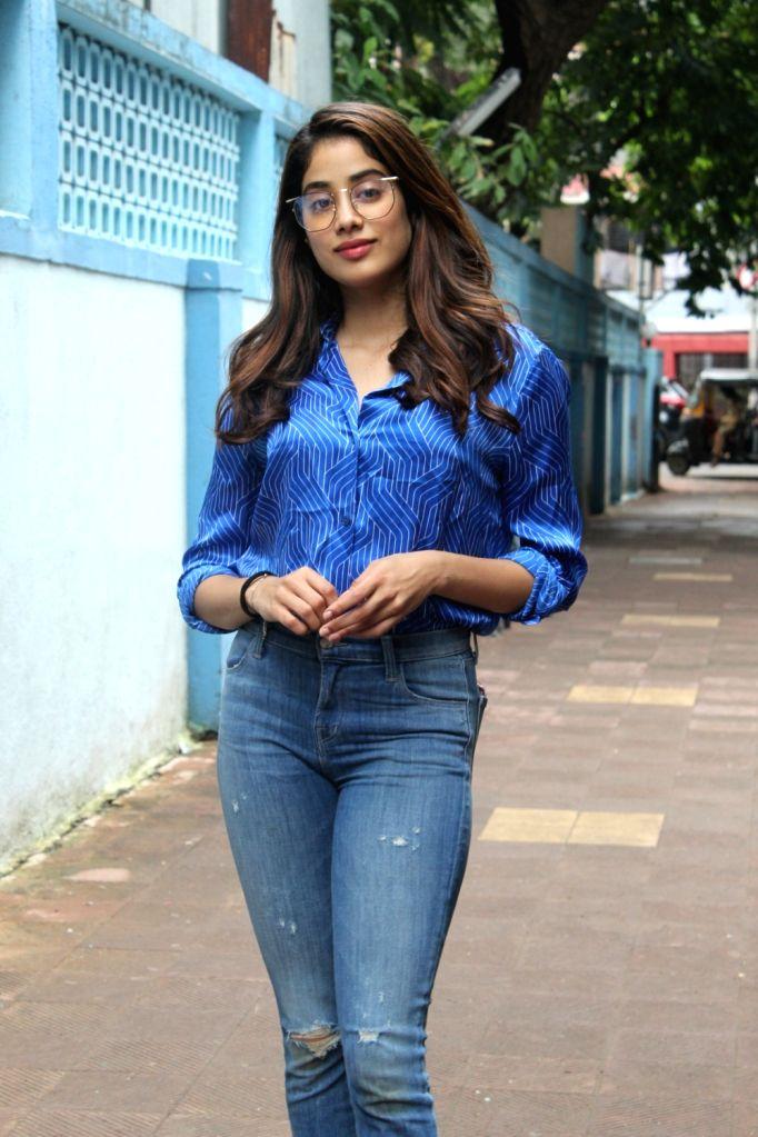 "Actress Janvhi Kapoor before shooting of ""No Filter Neha 4"" in Mumbai on Oct 26, 2019. - Janvhi Kapoor"
