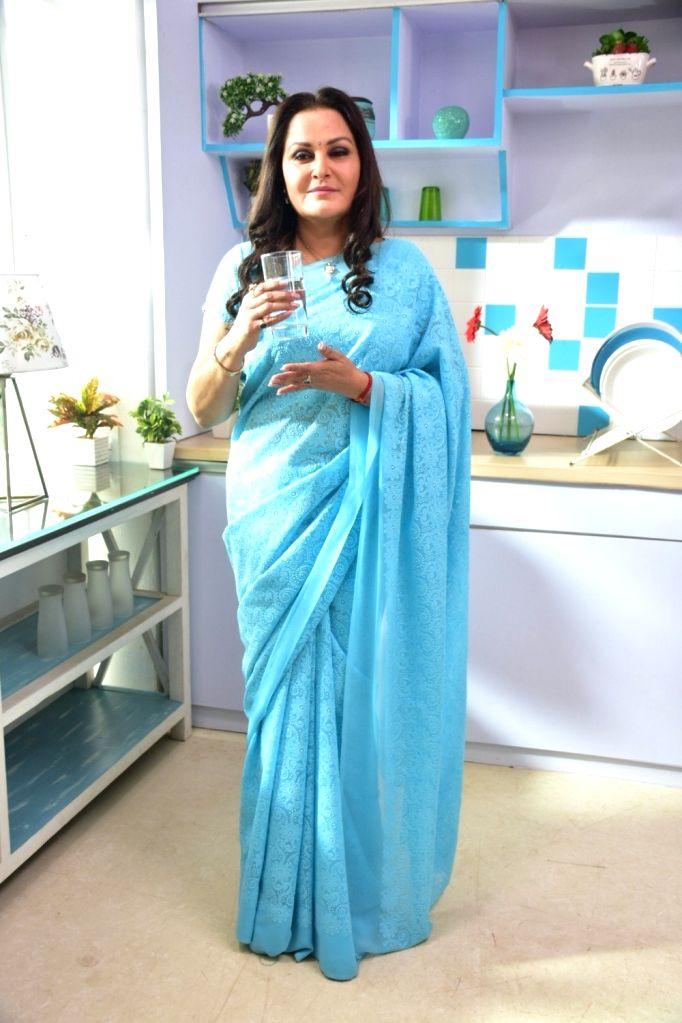 Actress Jaya Prada during a photo shoot in Mumbai on Jan 22, 2018. - Jaya Prada