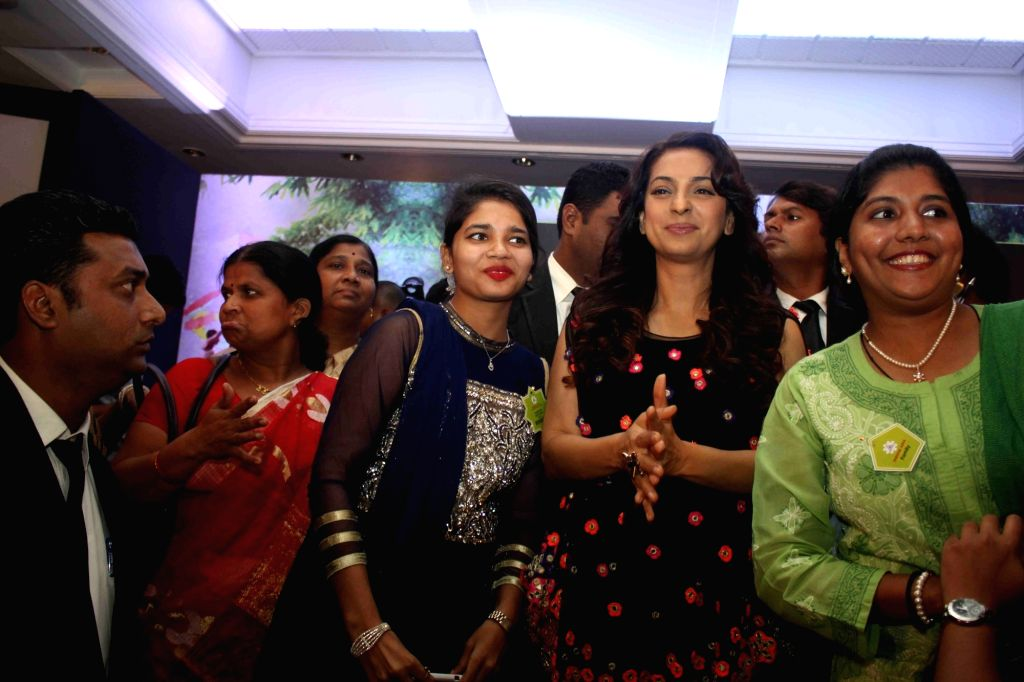 Actress Juhi Chawla at the seminar on The Art of Learning for Sustainable Tomorrow, in Mumbai on January 14, 2016.