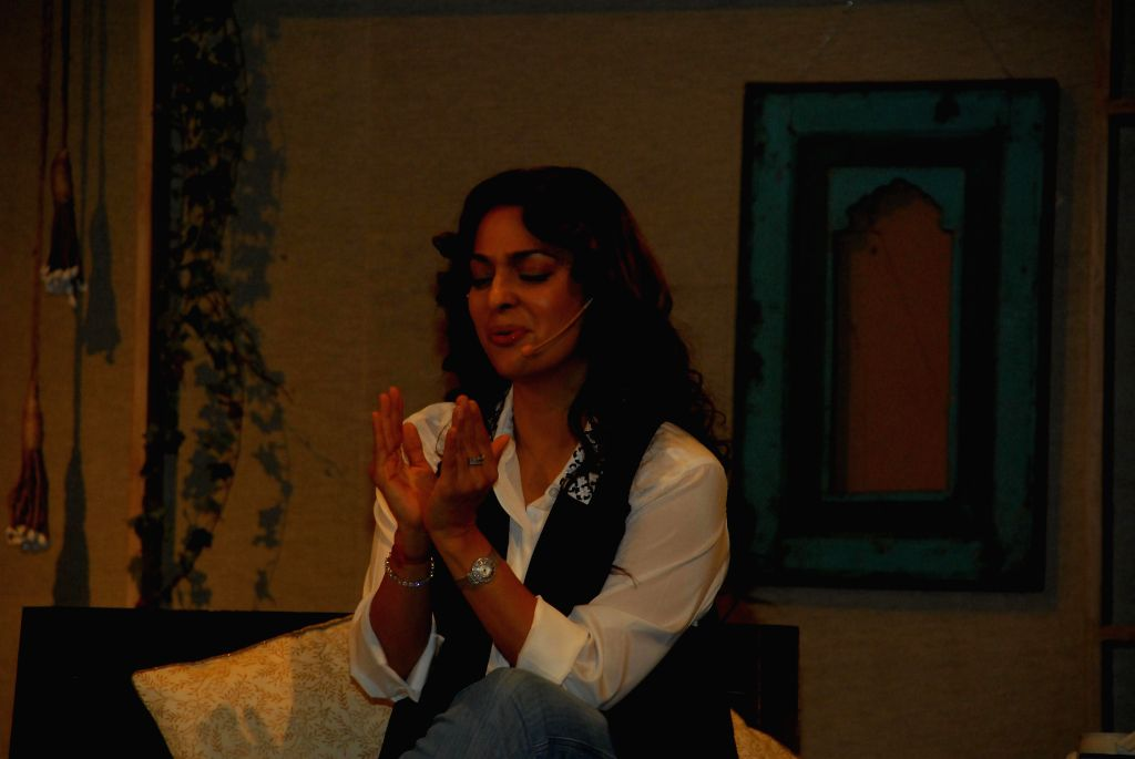 Actress Juhi Chawla during a function organised for a series of interaction on `In Conversation with the Mystic` in Mumbai on Aug 4, 2014. - Juhi Chawla