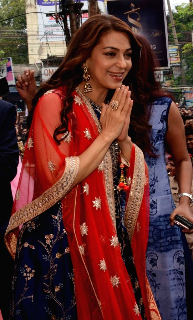 Actress Juhi Chawla during a programme in Patna on Oct 10, 2017. - Juhi Chawla