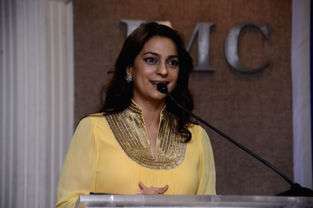 Actress Juhi Chawla during Priyadarshni Academy's 33rd Anniversary Literary Awards in Mumbai on March 21, 2017. - Juhi Chawla