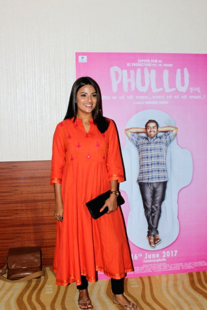 Actress Jyoti Sethi during the trailer launch of film Phullu in Mumbai, on June 1, 2017. - Jyoti Sethi