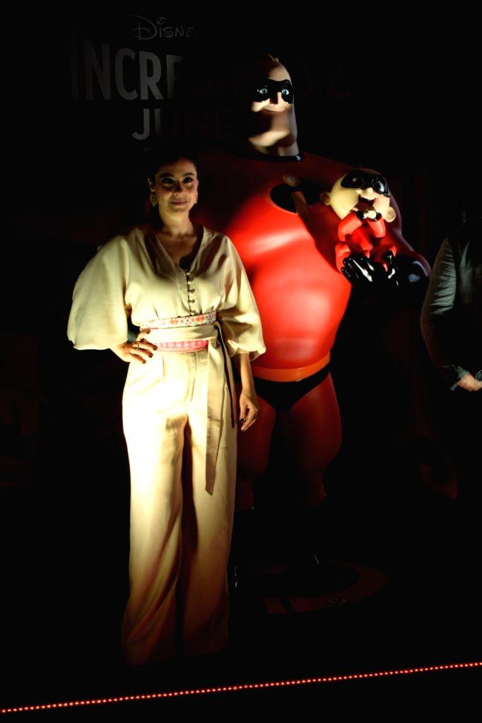 "Actress Kajol at the launch of Hindi version of ""Incredibles 2"" in Mumbai on June 8, 2018. - Kajol"
