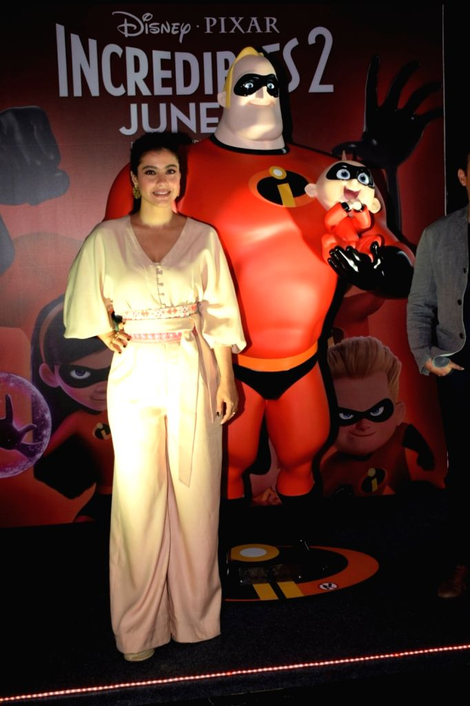 "Actress Kajol at the launch of Hindi version of ""Incredibles 2"" in Mumbai on June 8, 2018. - Kajol"