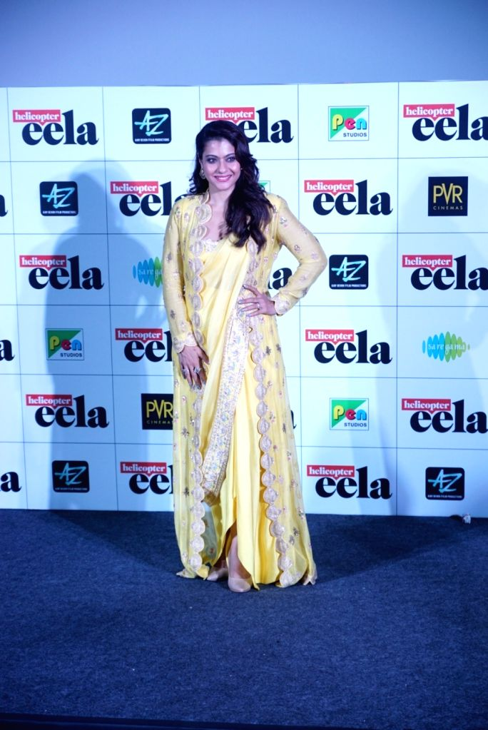 """Actress Kajol at the trailer launch of upcoming film """"Helicopter Eela"""" in Mumbai, on Aug 5, 2018. - Kajol"""