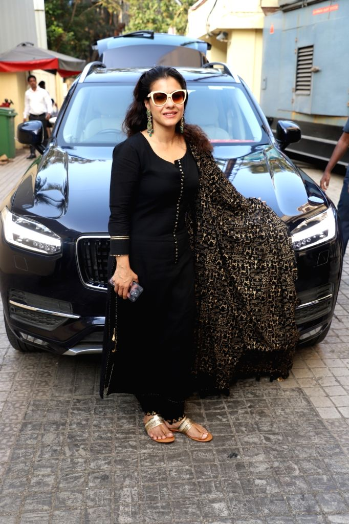 "Actress Kajol Devgn at the special screening of her upcoming film ""Tanhaji: The Unsung Warrior"" in Mumbai on Jan 9, 2020. - Kajol Devgn"